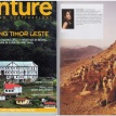 A Walk of Faith to Mount Sinai, published in Venture Magazine, Nov/Dec, 2010 - Cover & inside age