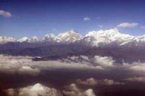 Himalaya dari atas pesawat