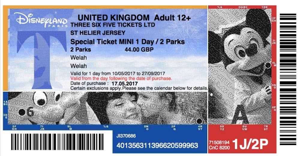 Tiket 2 Hari Disnyeland