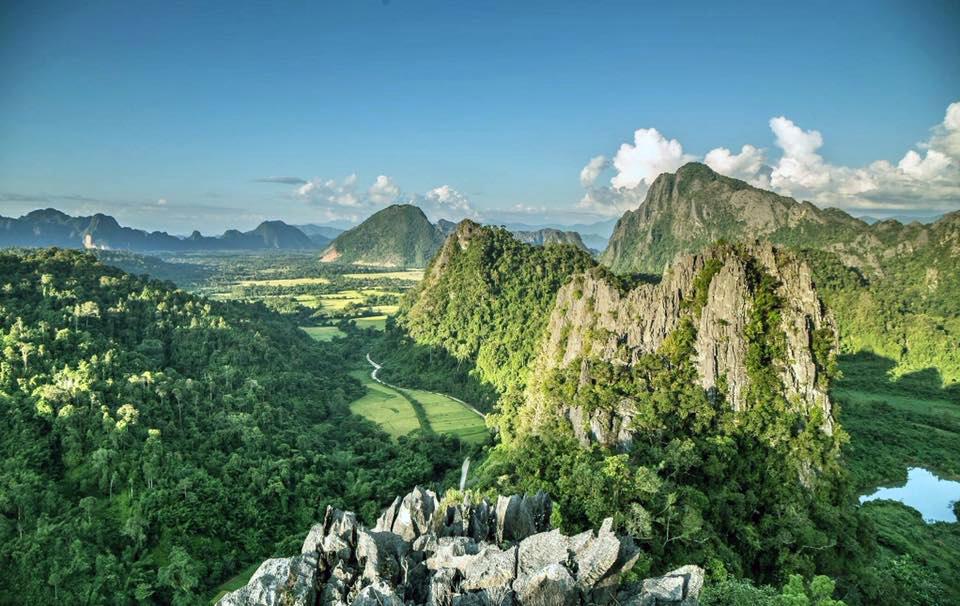 Pemandangan Luang Prabang dari atas