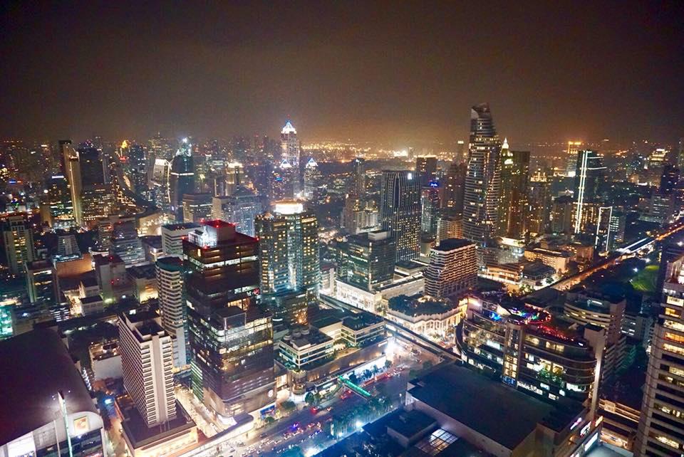 Pemandangan Bangkok dimalam hari